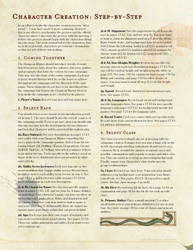 Character Creation - Step by Step