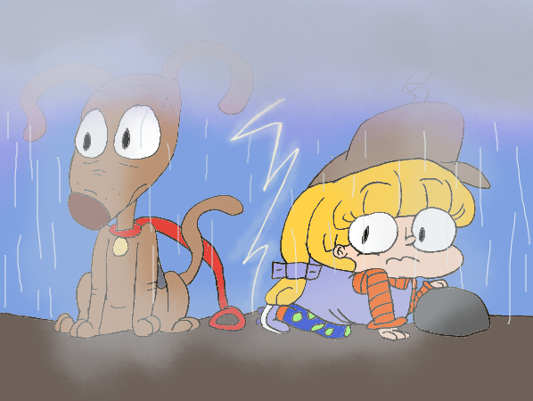 Spike and Angelica Caught In The Rain by Angelicbunni3 on ...