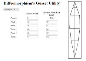 Gusset-Creating Utility by Diffeomorphism
