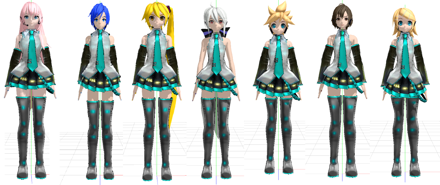 Mmd Dt Models In Miku's Outfit Pack Download By Dianita98