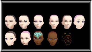 MMD Kuroyu Head Pack Download