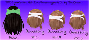MMD Commission: Hair Bow/Accessory Pack DL