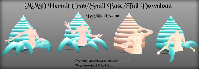 MMD Hermit Crab/Snail Tail/Base #1 Download