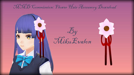 MMD Commission: Flower Hair Accessory Download