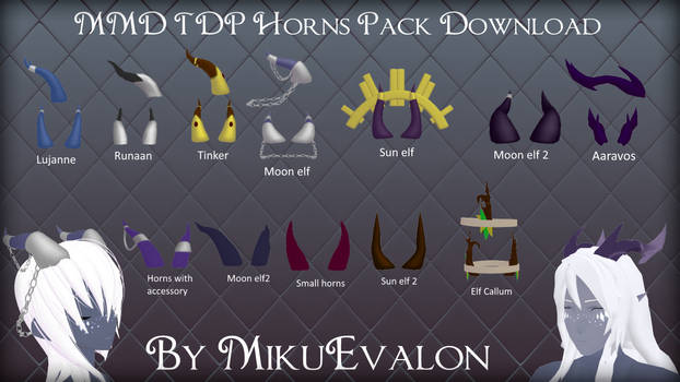 MMD The Dragon Prince Horn Pack Download