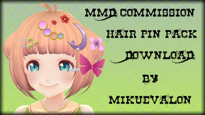 MMD Commission: Hair Pins Pack Download by MikuEvalon