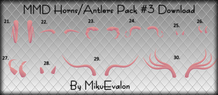 MMD Horns-Antlers Pack #3 Download