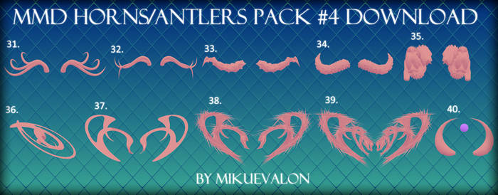 MMD Horns-Antlers Pack #4 Download