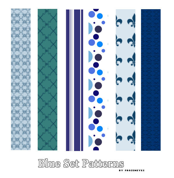 Blue Pattern Set by AlenaJay