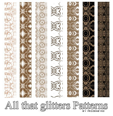 All That Glitters Patterns by AlenaJay