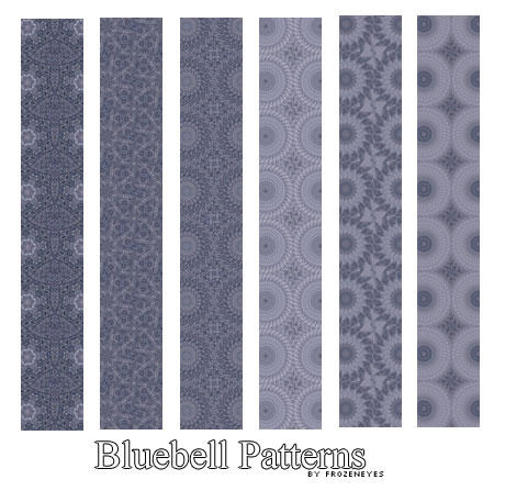 Bluebell Pattern Set by AlenaJay