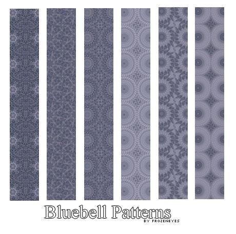 Bluebell Pattern Set by AlenaJay