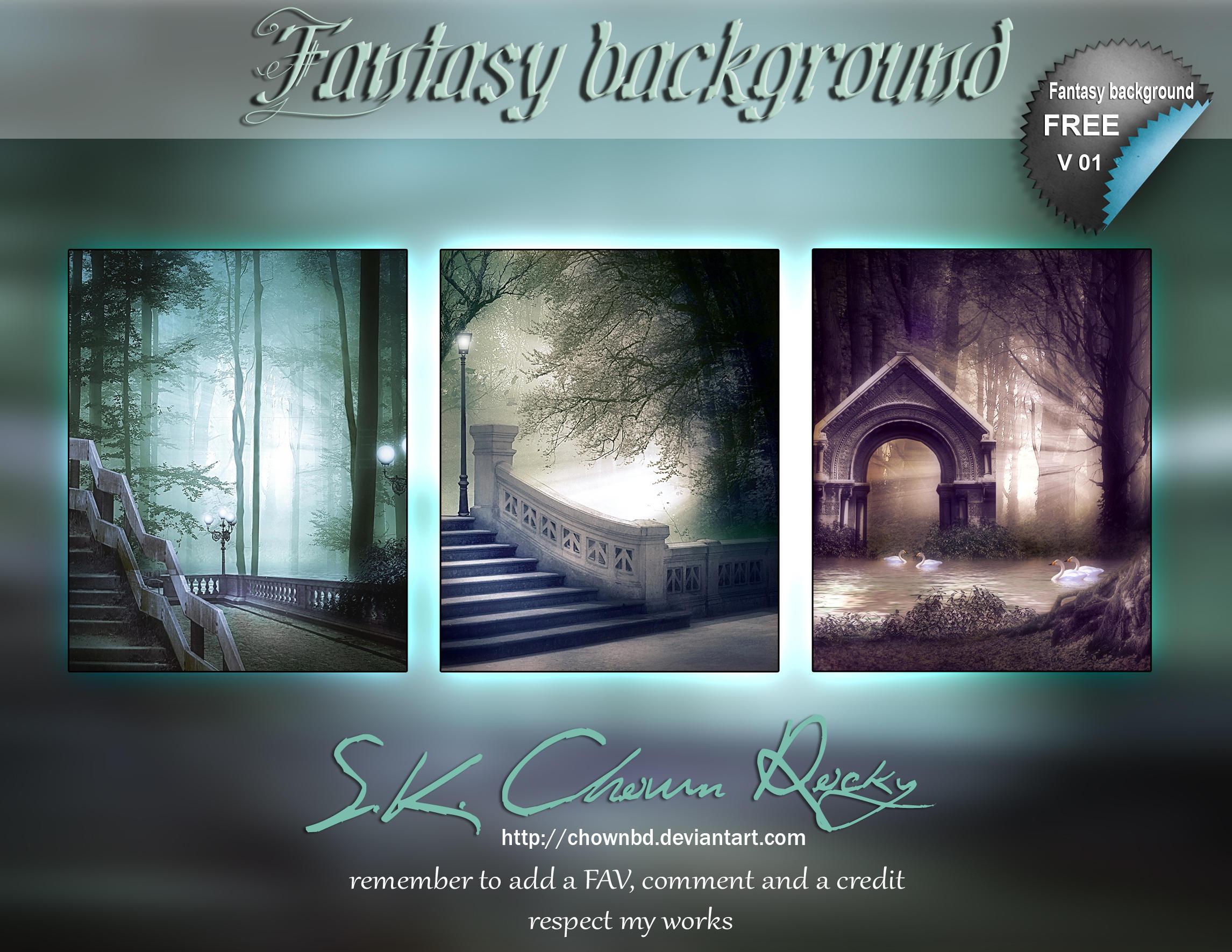 Fantasy background V01 by DIGI-3D