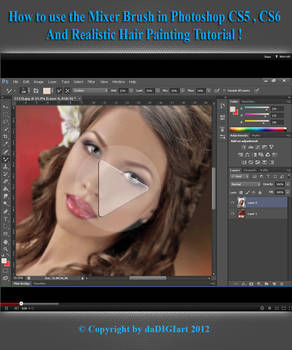 Realistic Hair Painting Tutorial