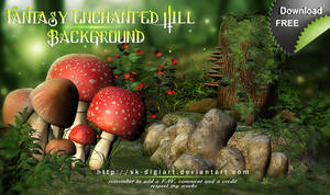 Fantasy Enchanted Hill Background