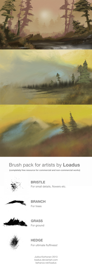Nature Brushes set