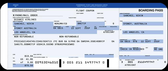 Flight 815 Boarding Pass