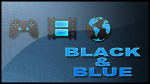 Black and Blue PS3 Theme