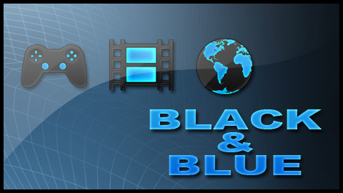 Black and Blue PS3 Theme by Draicus