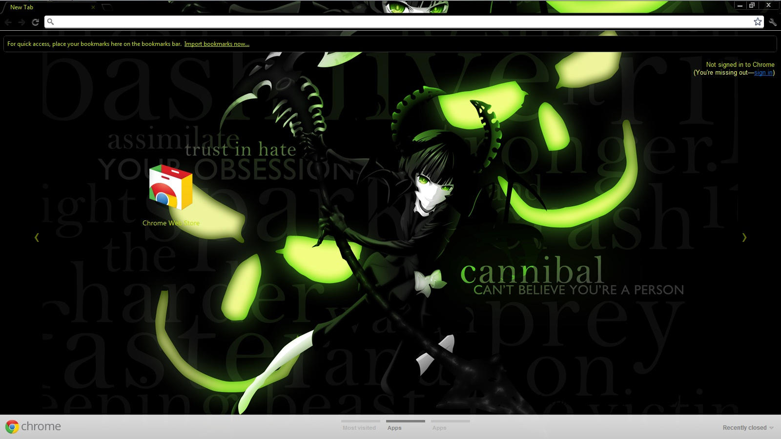 Google chrome theme guilty crown - Chrome Theme Brs Dead Master By Seraphimax