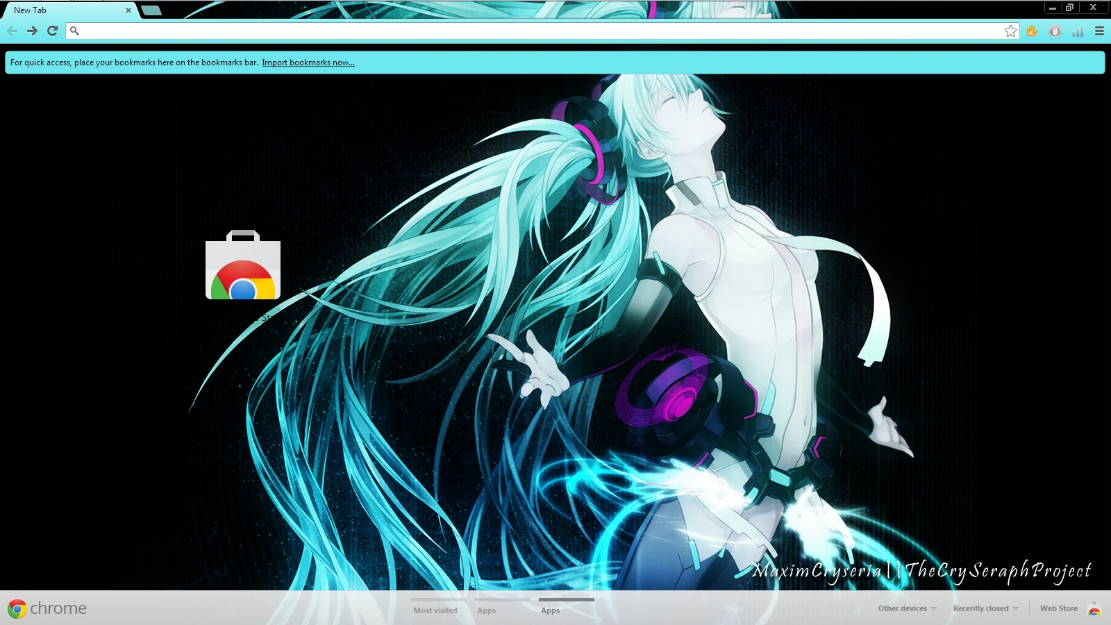 Google Chrome Theme Hatsune Miku By Seraphimax On Deviantart