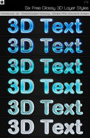 6 Free 3D Glossy Layer Styles by HollowIchigoBanki