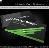 Free Minimalist Clean Business card by HollowIchigoBanki