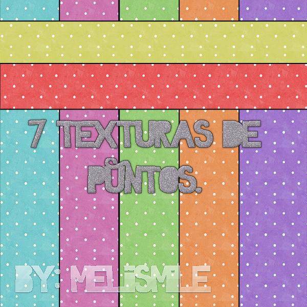 Texturas de Puntos de colores. by MeliiSmile