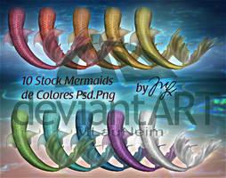 Mermaids Stocks PSD-PNG