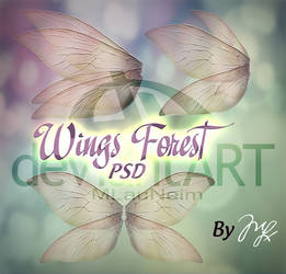 Wings Forest PSD by MLauviah
