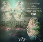 Wings Butterfly Glitter PSD