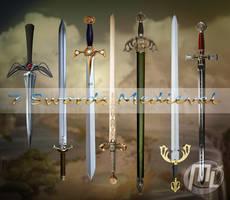 Swords Medieval PSD