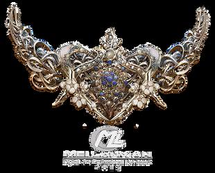 Tiara Gold Ornamental PSD by MLauviah