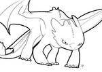 Toothless lineart