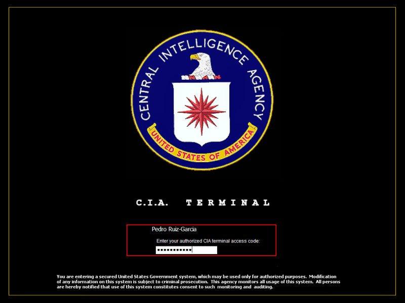 CIA Terminal Logon by aruiz1