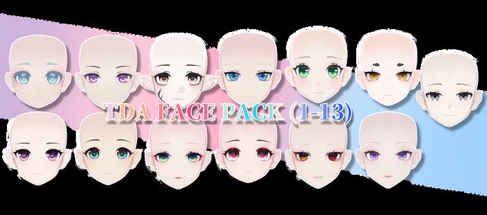 [MMD DL]TDA FACE PACK (1-13) By Joshu0a926__c