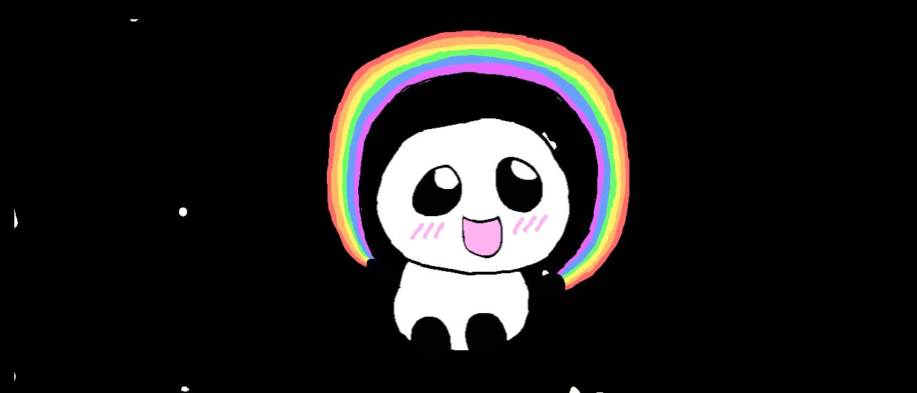 Rainbow Panda by Tinkalila on DeviantArt