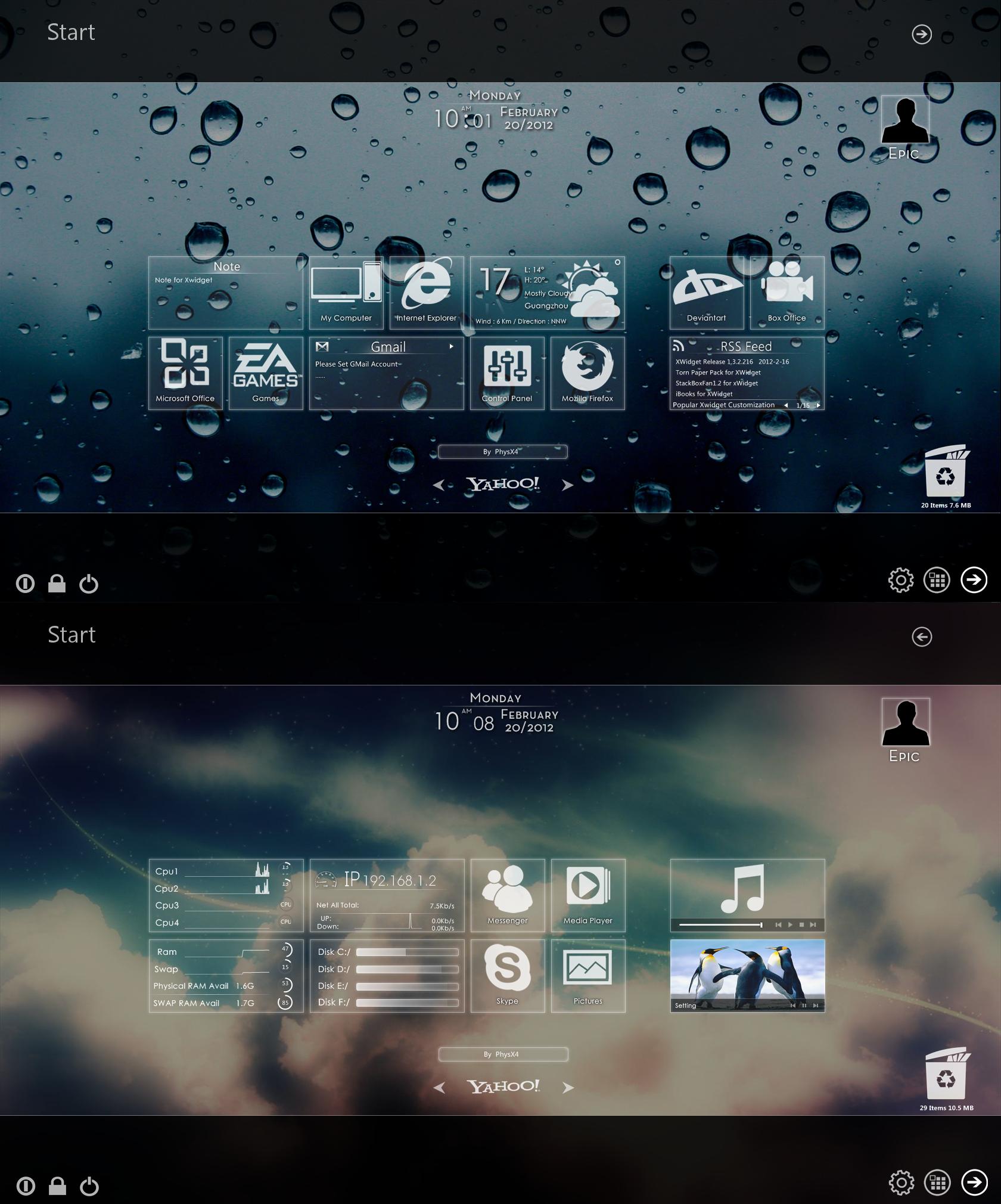 Windows MetroUI For Xwidget  V2.0 by PhysX4