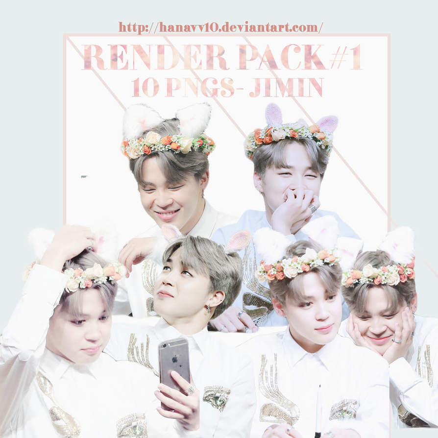 PACK RENDER #1 JIMIN-BTS by Hanavv10
