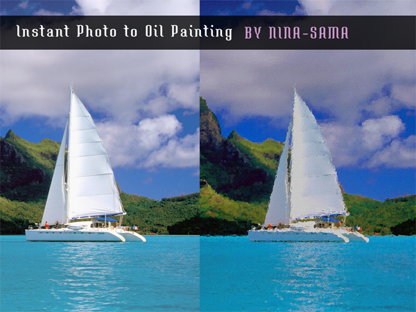 [PS Action] Instant Photo to Oil Painting