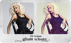 "PS Action ""Glam Whore"" by partynerd"