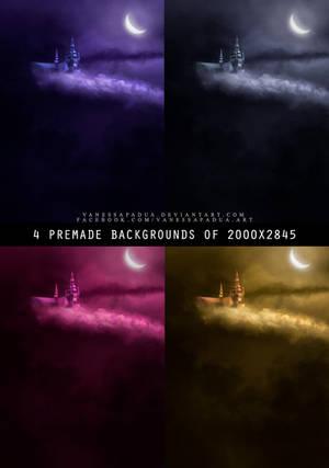 4 Premade - Moon by VanessaPadua