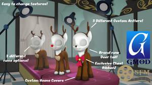 (DL)(SFM)(GMOD) Reindeer Costume V2