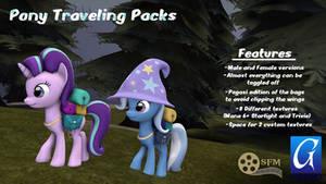 (DL)(SFM)(GMOD) Pony Traveling Packs