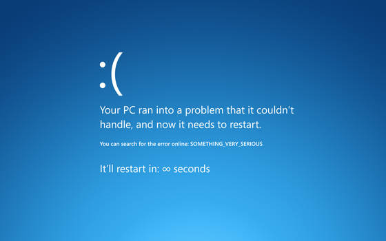 Blue screen of sadness