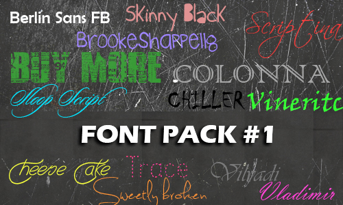 Font Pack#1 by pkyekrox