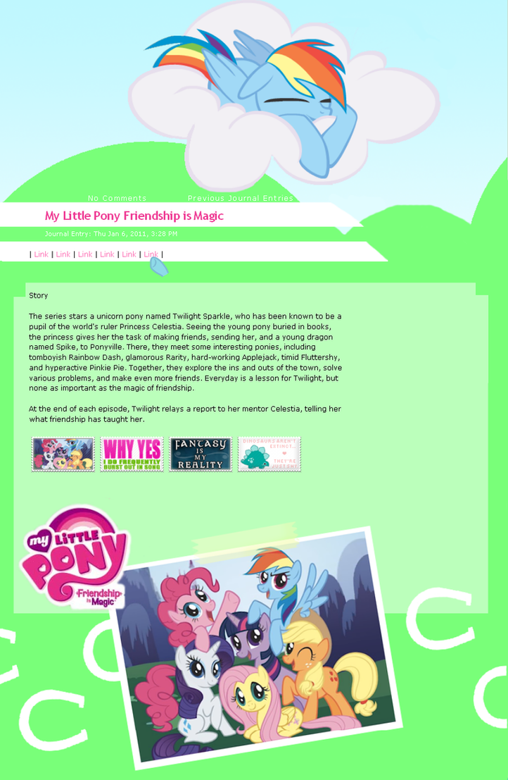 MLP FiM journal Css by LoreHoshi