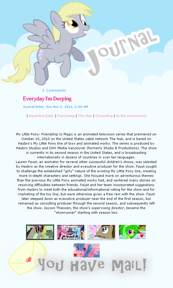 Derpy Journal CSS Skin by LoreHoshi