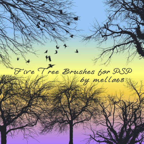Tree Brushes for PSP by Mella68