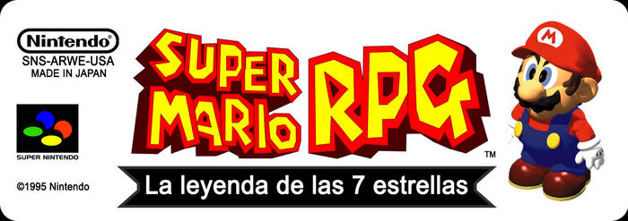 Super Mario RPG JP PAL Format Label